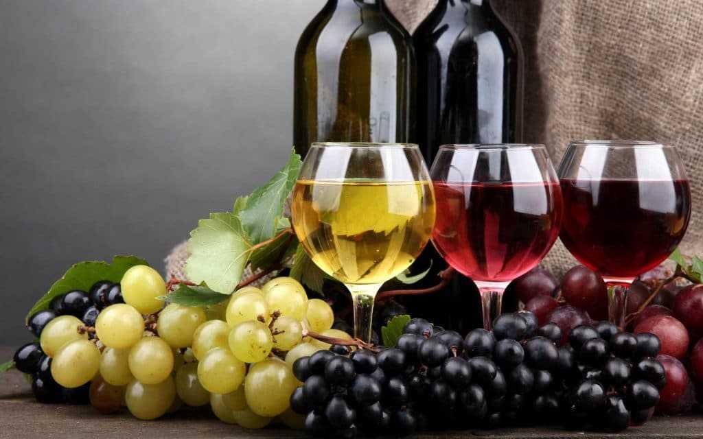 Красные и белые вина