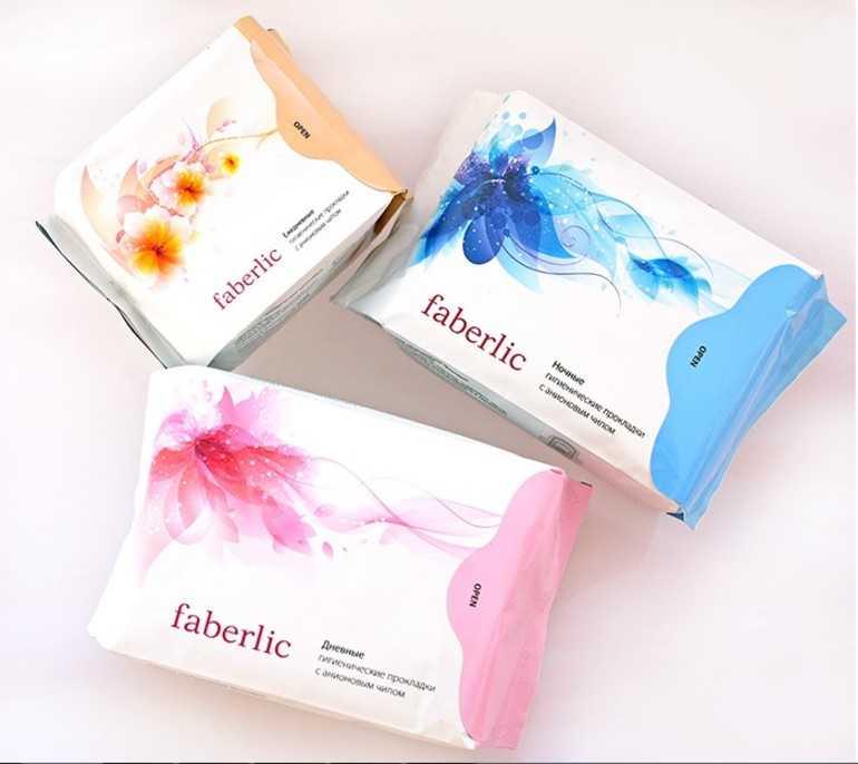 Ночные прокладки Faberlic «С анионовым чипом, ночные»