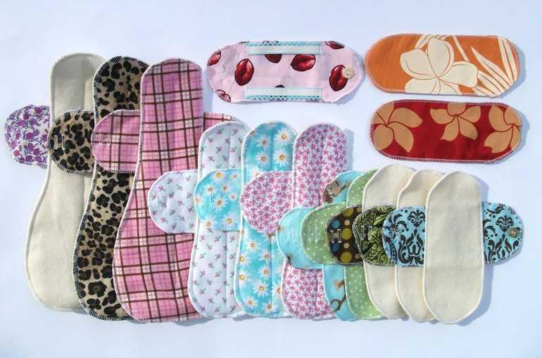 Разноцветные прокладки для женщин