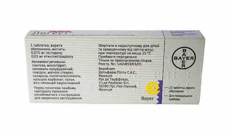 Состав таблеток Логест