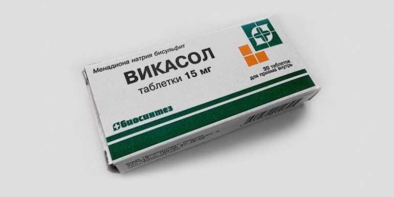 Таблетки Викасол