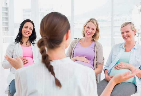 Беременные на психологическом тренинге