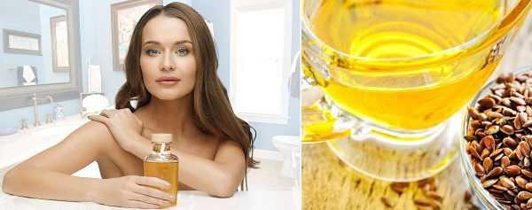 Девушка и льняное масло