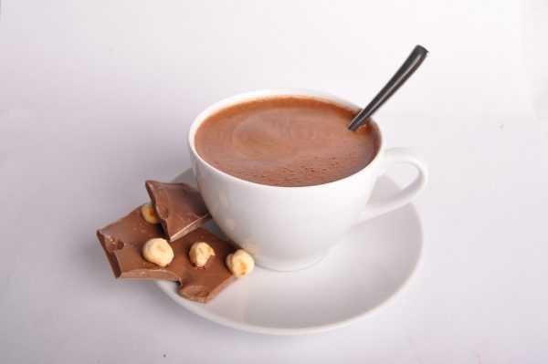 Кружка какао и шоколад