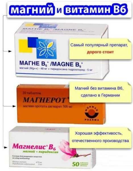 Магне В6 и его аналоги Магнелис и Магнерот