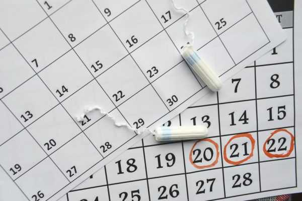 Тампоны лежат на календарях