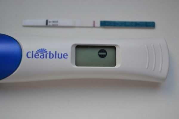 Отрицательный результат на электронном тесте на беременность
