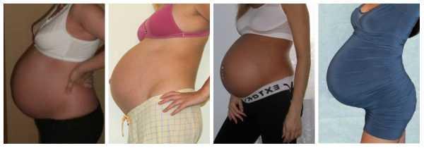 Живот на 9 месяце беременности