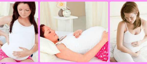 Три фотографии беременных в разных положениях