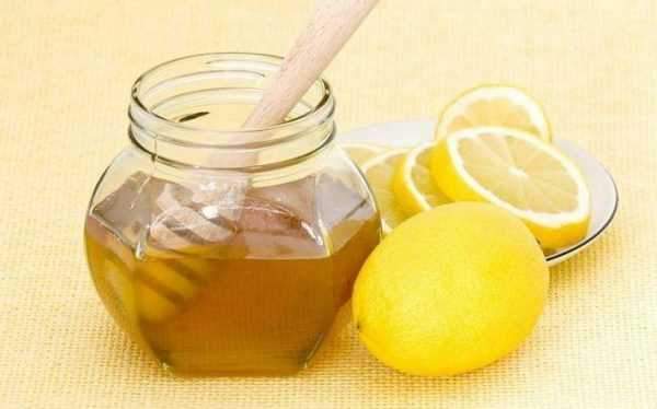 Банка с мёдом и лимон