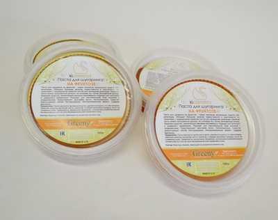 Пример пасты для шугаринга на основе фруктозы в упаковке