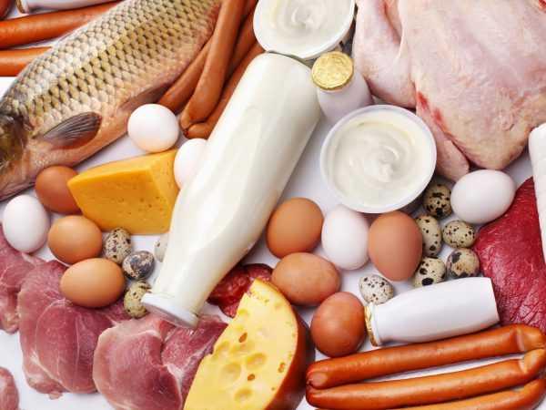 Продукты с содержанием глицина