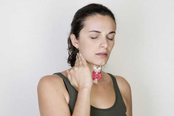 щитовидная железа у женщины — нарисована в области горла