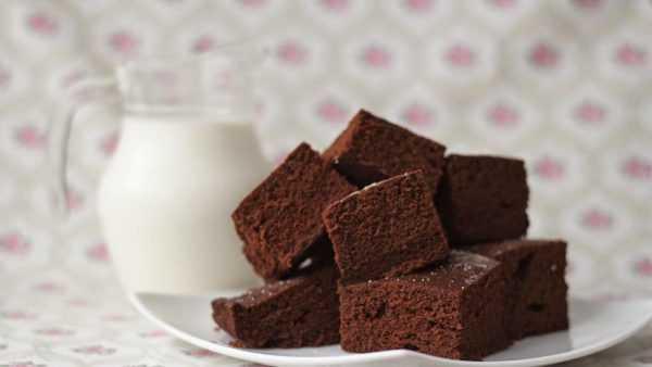 Шоколадный пирог и молоко