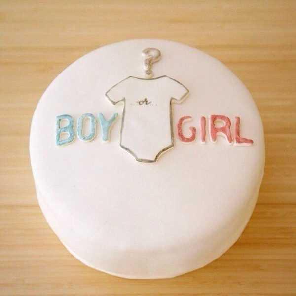 Торт для вечеринки по определению пола малыша