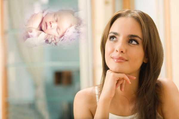 Женщина думает о ребёнке
