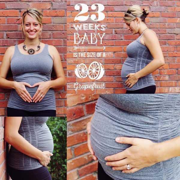 Живот беременной на 23 неделе